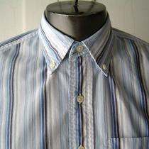 Gap Men's Shirt Sz S Blue White Striped Cotton Classic Photo