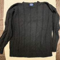 Gap Men's Xl Cotton Black Knit Crewneck Sweater  Photo