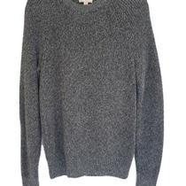 Gap Men Size Medium Sweater Knit Gray Marled Pullover Long Sleeve 100 % Cotton Photo