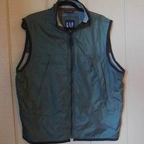 Gap Mens Army Green Nylon Vest W/ Mesh and Knitted Lining Lots of Storage Size M Photo