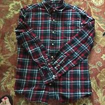 Gap Mens Blue/red Plaid Woven Button-Down Shirt Size Large Photo
