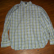 Gap Mens Button Down  Long Sleeve Plaid Shirt Xl Gently Used Photo