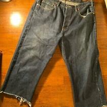 Gap Mens Crop Pants Waist Size 38 Fit 32 Vintage Dark Blue Color Photo