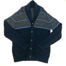 Gap Mens Dark Blue / Multicolor Shawl Collar Buttoned Cardigan Size M Photo