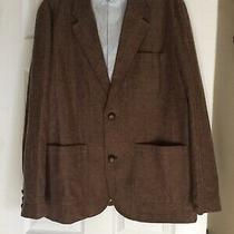 Gap Mens Herringbone Fully Lined Blazer Size Xl Brown Excellent Condition Photo