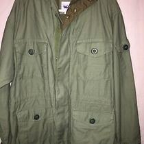 Gap Mens Hooded Military Style Coat Size Large Photo