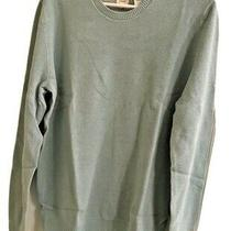 Gap Mens  Light Teal Long Sleeve Crew Neck Sweater Cotton Pullover New Photo