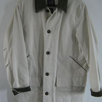 Gap Mens S Khaki Barn Coat Jacket Lined Olive Corduroy Pockets Cotton Photo