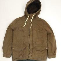 Gap Mens Size M Cotton Blend Brown Hooded Coat Photo