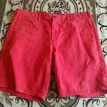 Gap Mens Sz 38 Red Orange Shorts. Gap Khakis Lived in Shorts Cotton Nice Euc  Photo