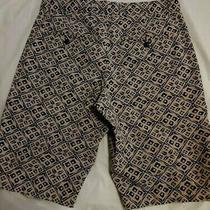 Gap Mens Tile Khaki Print Navy Beige Design Shorts Sz 29 Free Same Day Shipping Photo