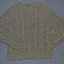 Gap Mens Wool Aran Fisherman Cable Knit Pullover Sweater Xxl Photo