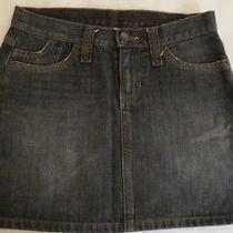 Gap  Mini Pencil Denim Black Jean Skirt  100% Cotton  Size 2 Photo
