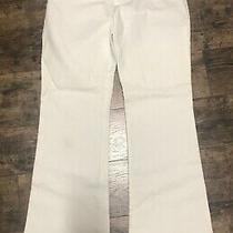 Gap Modern Boot Leg Size 4a 4 Ankle White Pants Denim Jeans Pre-Owned Flat Front Photo