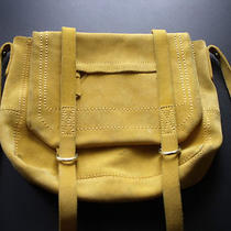 Gap Mustard Yellow Suede Leather Messenger Crossbody Shoulder Bag -Read Photo
