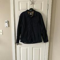 Gap Navy Sherpa Shirt Jacket Size L Photo