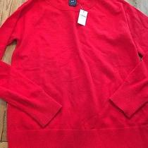 Gap New Red Extra Fine Merino Wool  Blend Crewneck Sweater Size Small Photo