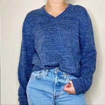 Gap Nwt Budding Vee Women's Size Small Oversized Sweater Heather Blue Photo