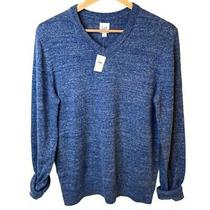 Gap Nwt Men's Budding Vee Sweater Heather Blue Size Small v-Neck Long Sleeve Photo