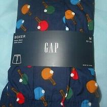 Gap Nwt Men's Med 32 33 34 Waist Navy Blue With Colorful Paddles Cotton Boxer  Photo
