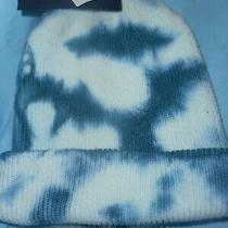 Gap Nwt Teal Blue and White Tie Dye Knit Watch Hat Cap Men Women One Size New   Photo