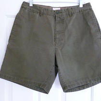 Gap Olive Chino Hudson Casual Bermuda Shorts Mens Size 34  Photo