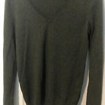 Gap Olive Green Size S v-Neck Sweater Womens Cotton Polyester Wool Blend Photo