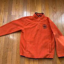 Gap Orange Boys Fleece Pullover Jacket Sz 10 Large Euc Photo