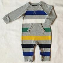 Gap Outfit Size 6 12  Months One Piece Baby Boys Striped Gray Cotton Gapkids Photo