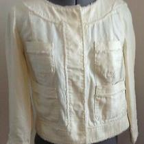 Gap Pale Yellow Cotton Snap Close Jacket S Photo
