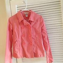 Gap Peach/pink Color Double Breasted Lightweight Spring Coat Size 4 Stretch Photo