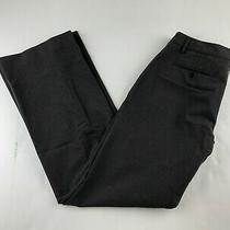 Gap Perfect Trouser Women Sz 4 R Charcoal Grey Pant Plaid Wide Leg Tall Business Photo