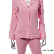 Gap Pink Button Down Cotton Pajama Top and Bottom Set Size S 0488-D1 4f Photo