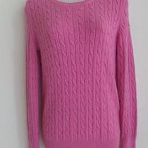 Gap Pink Cable Knit Crewneck Sweater Women Size Medium Free Shipping Photo