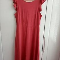 Gap Pink Jersey Midi Dress Size 14 45 Inches Long. New Photo