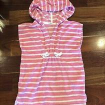 Gap Pink Striped Hooded Terrycloth Swimsuit Coverup Size 18-24 Month Photo