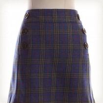 Gap Plaid Mini Skirt Sz 10 Blue Photo