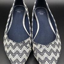 Gap Pointed Woven Flats Womens Size 6 Great Condition Blue & White Stripes Photo