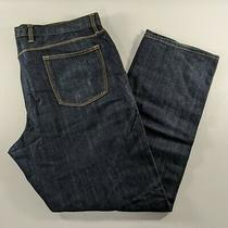 Gap Premium Straight Fit Blue Denim Jeans Mens Size 40 X 32 Photo