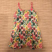 Gap Printed Tank Dress Ruffles Rainbow Color Size S Photo