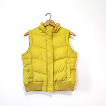 Gap Puffer Vest Green Chartreuse Bright Quilted Winter Warm Womens Medium  Photo