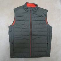 Gap Puffer Vest Men's Medium Army Green W/ Orange Highlights Primaloft Insula Photo