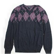 Gap Pullover Sweater Med Argyle v Neck Photo