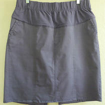Gap Purple Chino Twill Pencil Skirt Maternity Size 14 - Worn Once Photo