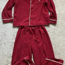 Gap Red Fleece Long Sleeve Shirt and Pants Pajama Set - Sz 5 Photo