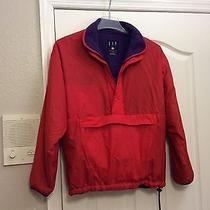 Gap Red Jacket W/purple Lining. Large. Gently Worn. Photo