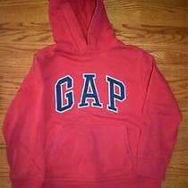 Gap Red Navy Blue Logo Pullover Sweatshirt Hoodie Size 8 Medium Photo