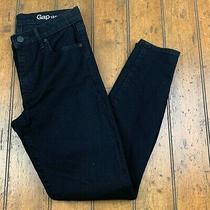 Gap Resolution True Skinny Womens 27 Short Stretch Jeans Black Denim Pants Photo