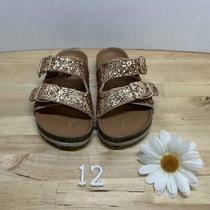 Gap Rose Gold Sparkle Slip on Sandals Size 12 Photo