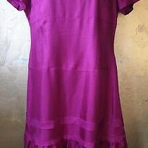 Gap S.14 Cerise Pink Silk Slip Dress New With Tags Knee Length Short Sleeve. Photo
